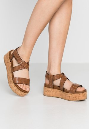 MINKA - Platform sandals - tan