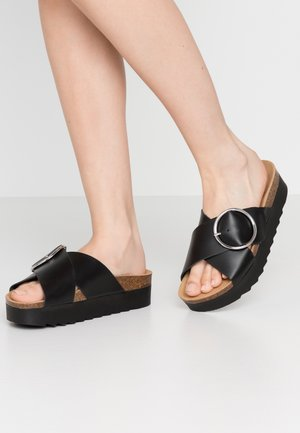 MILANA - Pantofle na podpatku - black
