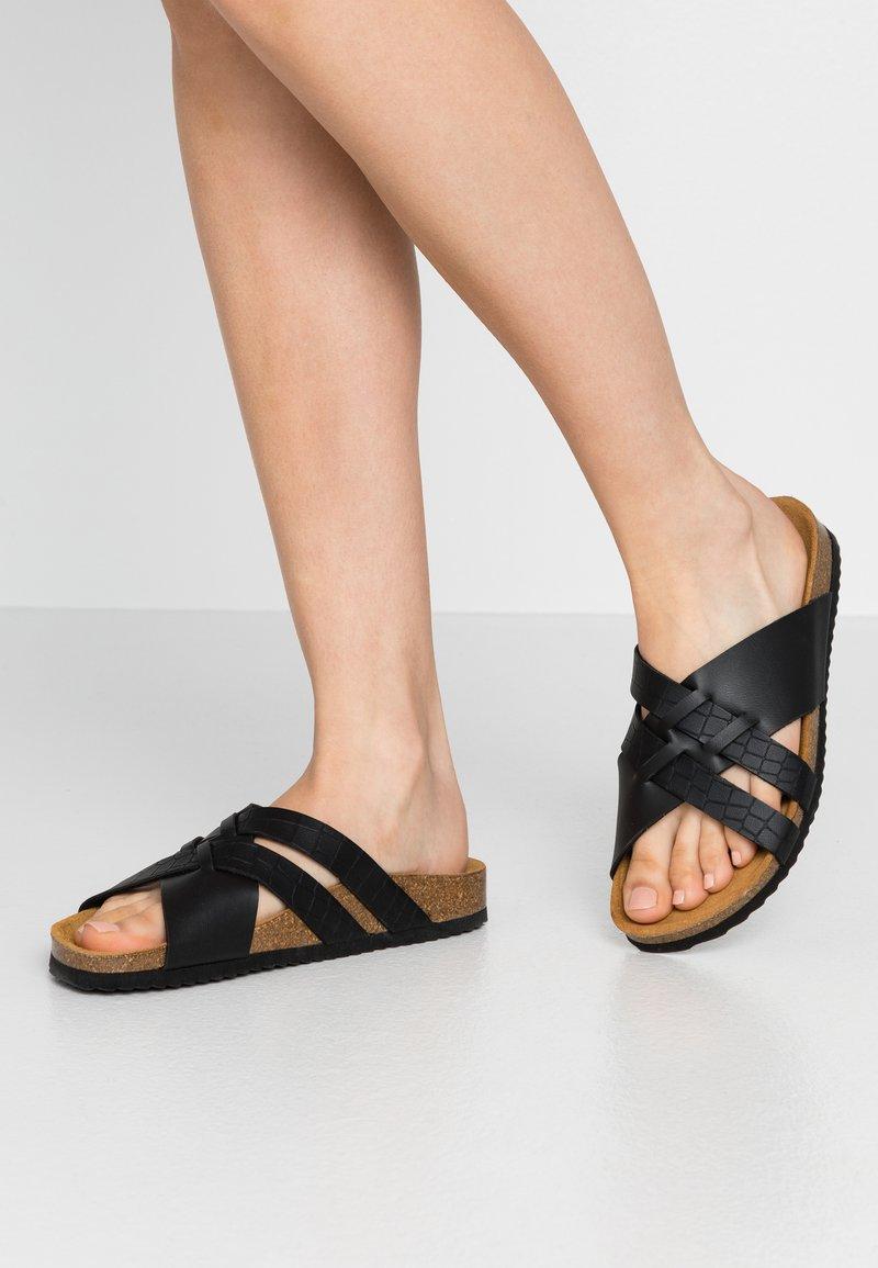 Office - STRIPE - Slippers - black