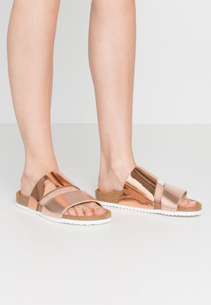 STRAIGHT - Mules - rose gold mix