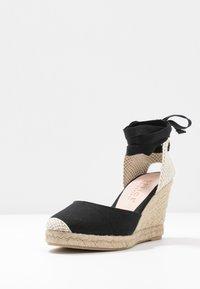 Office Wide Fit - MARMALADE WIDE FIT - Sandály na vysokém podpatku - black - 4