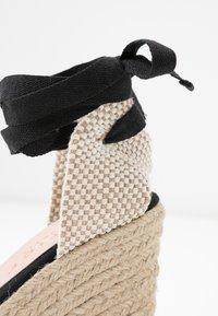 Office Wide Fit - MARMALADE WIDE FIT - Sandály na vysokém podpatku - black - 2