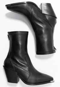 Office - ASHEN - Cowboy/biker ankle boot - black - 3