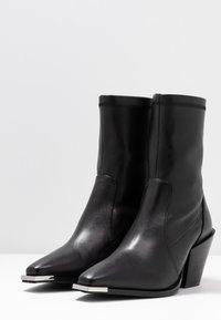 Office - ASHEN - Cowboy/biker ankle boot - black - 4