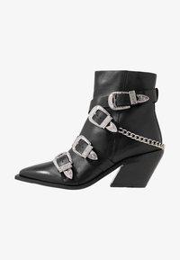 Office - ASTERISK - Cowboy/biker ankle boot - black - 1