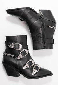 Office - ASTERISK - Cowboy/biker ankle boot - black - 3