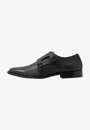 MILO MONK - Smart slip-ons - black
