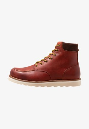 IDYLLIC - Lace-up ankle boots - dark red