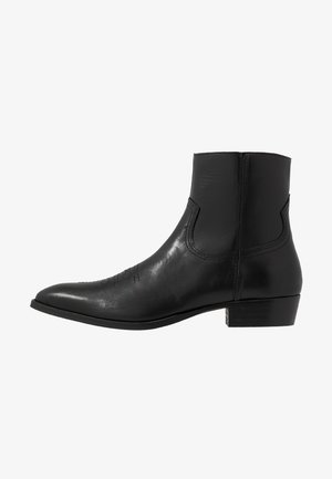 CLINT WESTERN BOOT - Cowboy/biker ankle boot - black