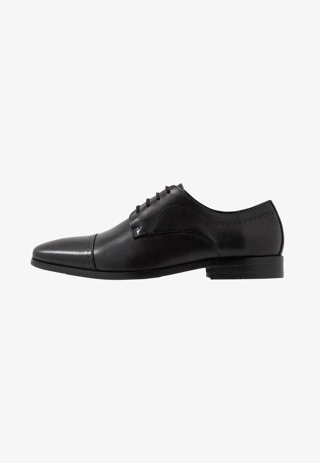 LOOKTOE CAP FORMAL - Smart lace-ups - black