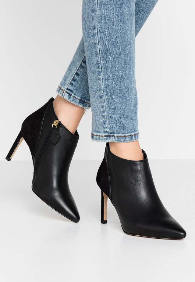MEREDITH - High heeled ankle boots - black