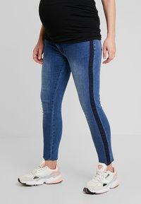 ohma! - CROP WITH RIBBON - Slim fit jeans - indigo - 0