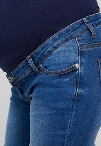 ohma! - HIGH BELLY - Jeans Straight Leg - light indigo - 4
