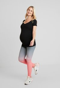 ohma! - SPORT WITH DEGRADE PRINT - Legging - black - 1