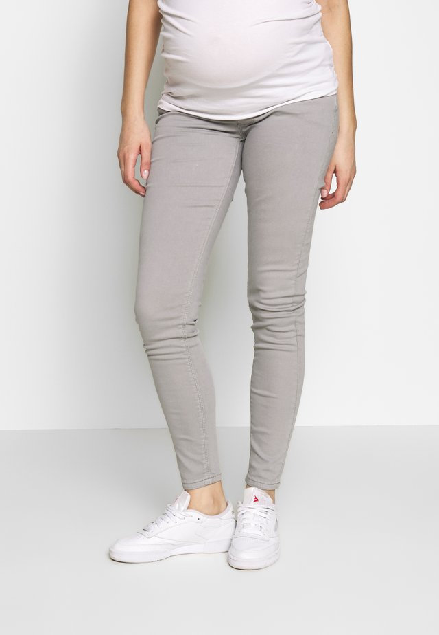 MATERNITY LOW BELLY TROUSER - Stoffhose - light grey