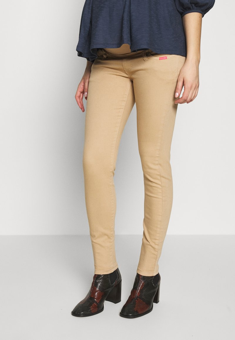ohma! - BASIC TWILL TROUSER HIGH BELLY - Trousers - camel