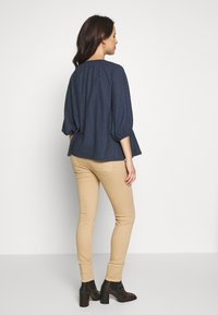 ohma! - BASIC TWILL TROUSER HIGH BELLY - Trousers - camel - 2