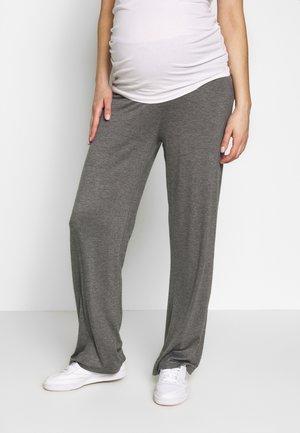 BASIC WIDE MATERNITY TROUSER - Teplákové kalhoty - grey melange