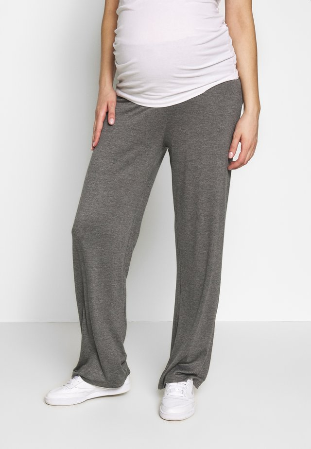 BASIC WIDE MATERNITY TROUSER - Jogginghose - grey melange