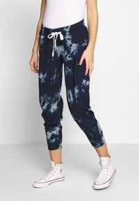 ohma! - TIE&DYE SAROUEL TROUSER WITH LOW BELLY - Tracksuit bottoms - navy - 0