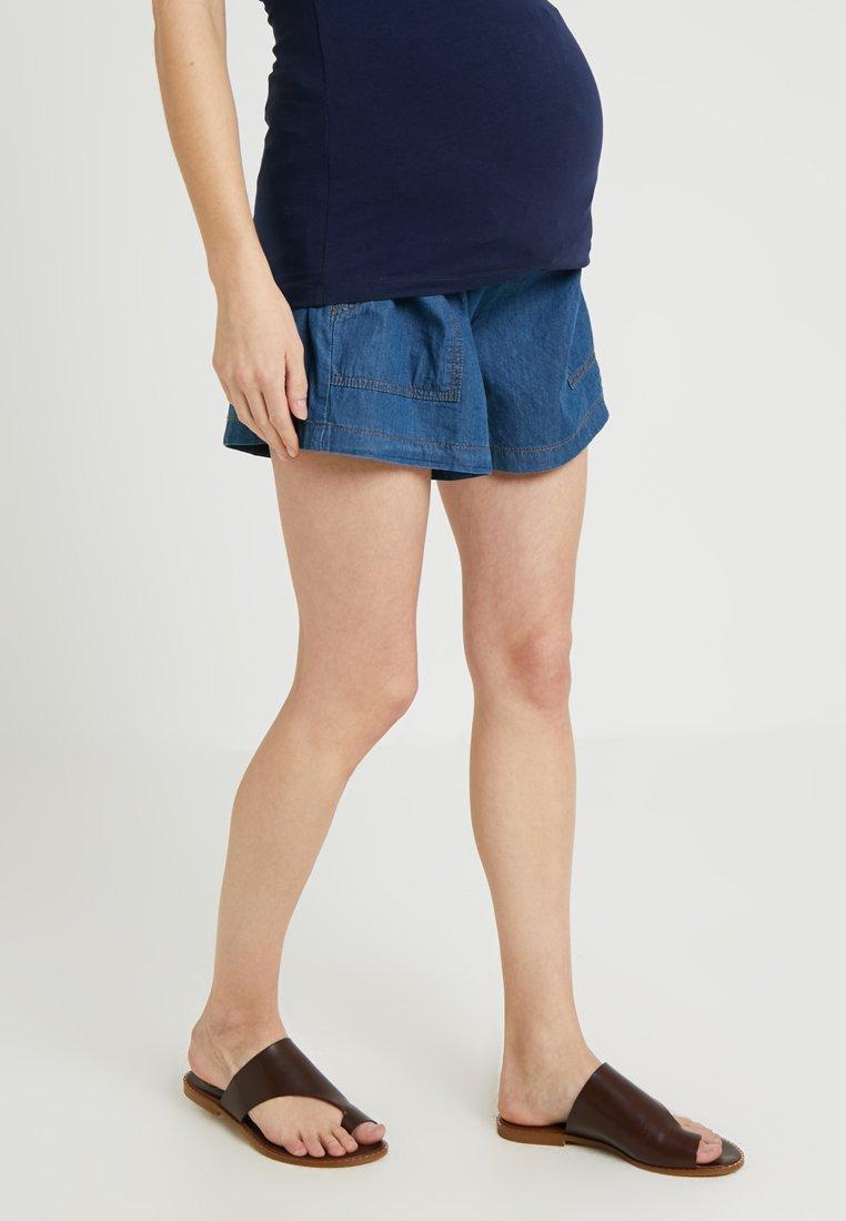 ohma! - WIDE SHORT TROUSER WITH BELT - Shorts - dark indigo