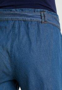 ohma! - WIDE SHORT TROUSER WITH BELT - Shorts - dark indigo - 4