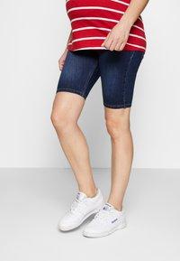 ohma! - BERMUDA WITH HIGH BELLY - Shorts - dark indigo - 0