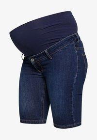 ohma! - BERMUDA WITH HIGH BELLY - Shorts - dark indigo - 3