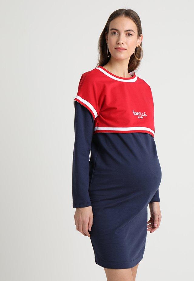 NURSING DRESS - Freizeitkleid - navy