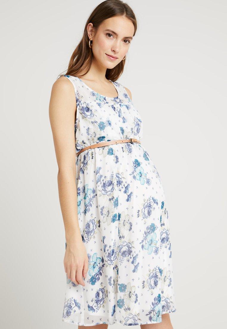 ohma! - SHORT NURSING DRESS FLOWERED PRINT - Day dress - white/green