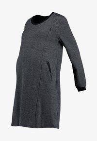 ohma! - NURSING CHECKS DRESS - Stickad klänning - black/navy - 6