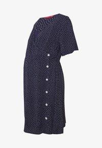 ohma! - NURSING DOTTED DRESS CROSSED WITH BUTTON - Sukienka koszulowa - navy - 5