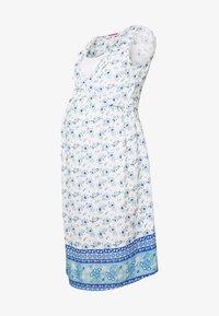 ohma! - NURSING PRINTED DRESS WITH FLOUNCE - Denní šaty - blue/white - 4