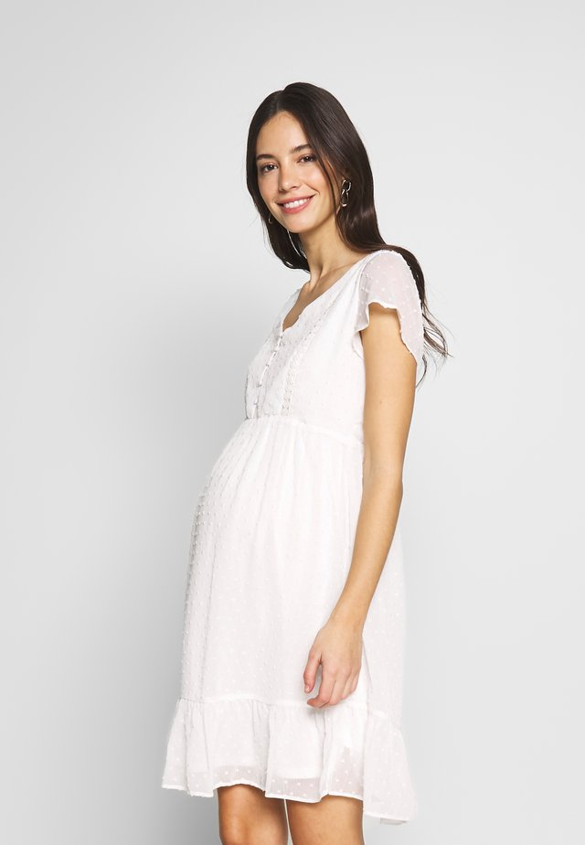 NURSING PLUMETTI DRESS WITH DETAILS - Denní šaty - white