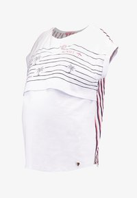 ohma! - NURSING WITH STRIPPES ON BACK - Print T-shirt - white - 5