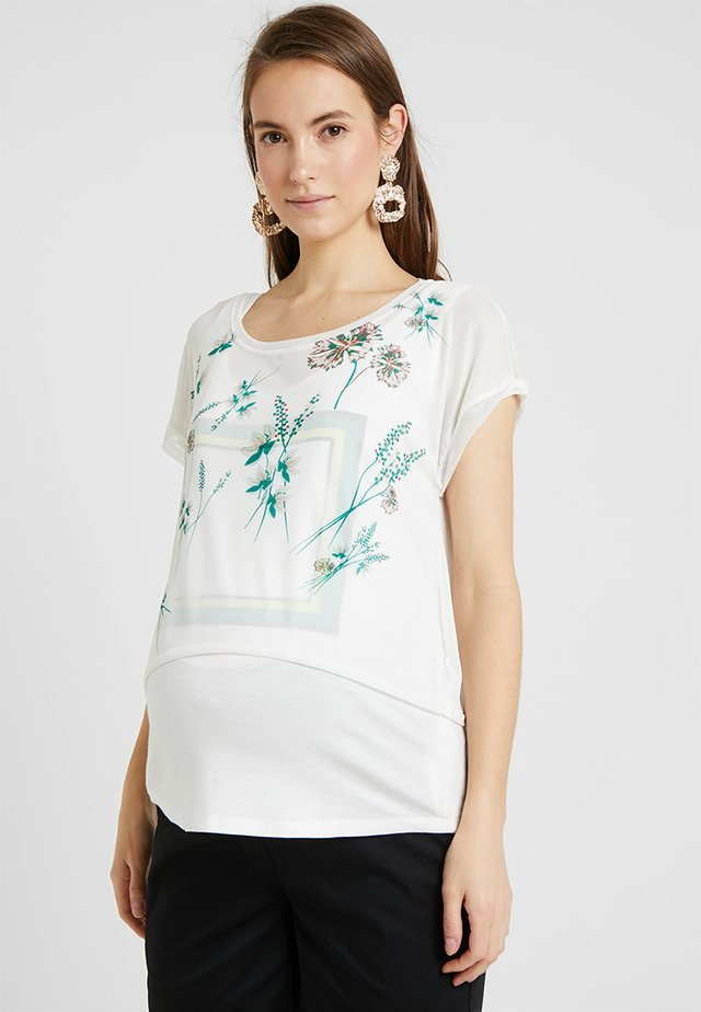 DOUBLE NURSING - T-shirts print - white
