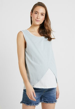 STRIPPED NURSING WITHOUT SLEEVES - Top - grey/white