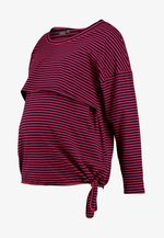 NURSING STRIPES - Camiseta de manga larga - red/navy