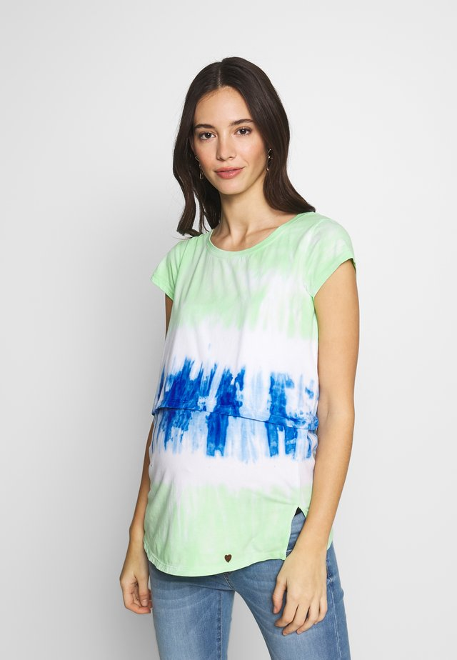 NURSING TIE DYE - T-shirt con stampa - turquoise