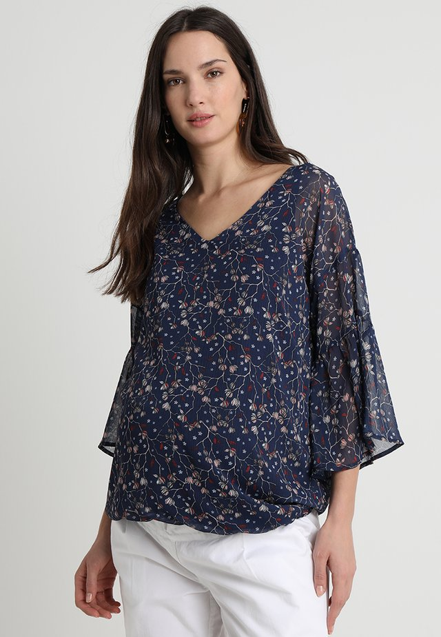 PRINTED BLOUSE - Tunikaer - navy