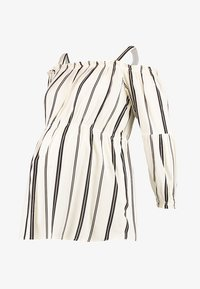 ohma! - STRIPPED BLOUSE WITH DETACHABLE STRAPS - Bluser - white/black - 4