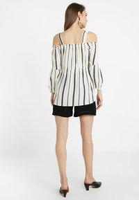 ohma! - STRIPPED BLOUSE WITH DETACHABLE STRAPS - Bluser - white/black - 2