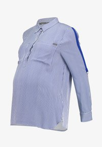 ohma! - STRIPED WITH TAPE ON SLEEVES - Bluse - navy - 5