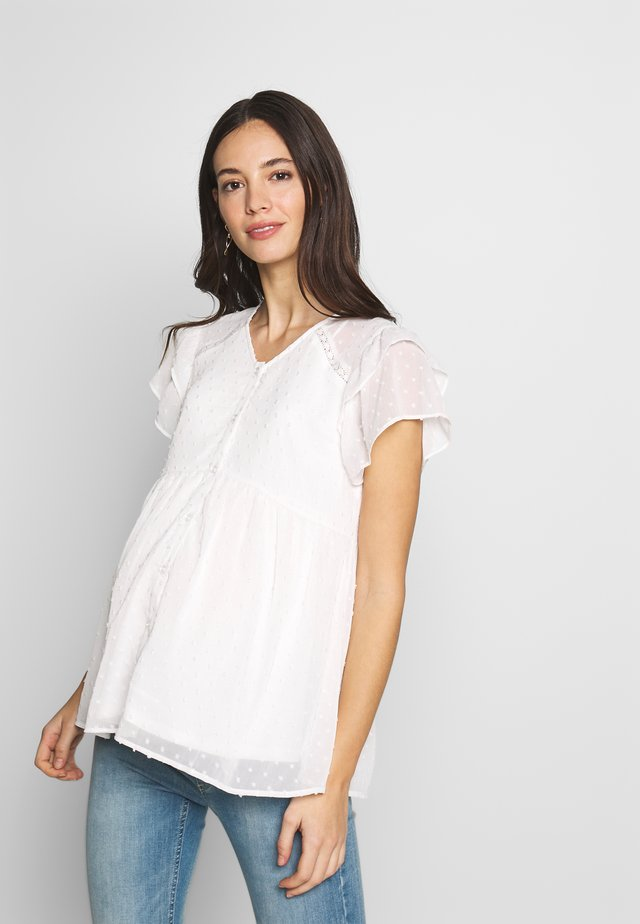 NURSING PLUMETTI WITH BUTTONS - Bluse - white