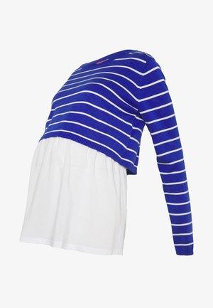 NURSING STRIPPED - Stickad tröja - blue/white