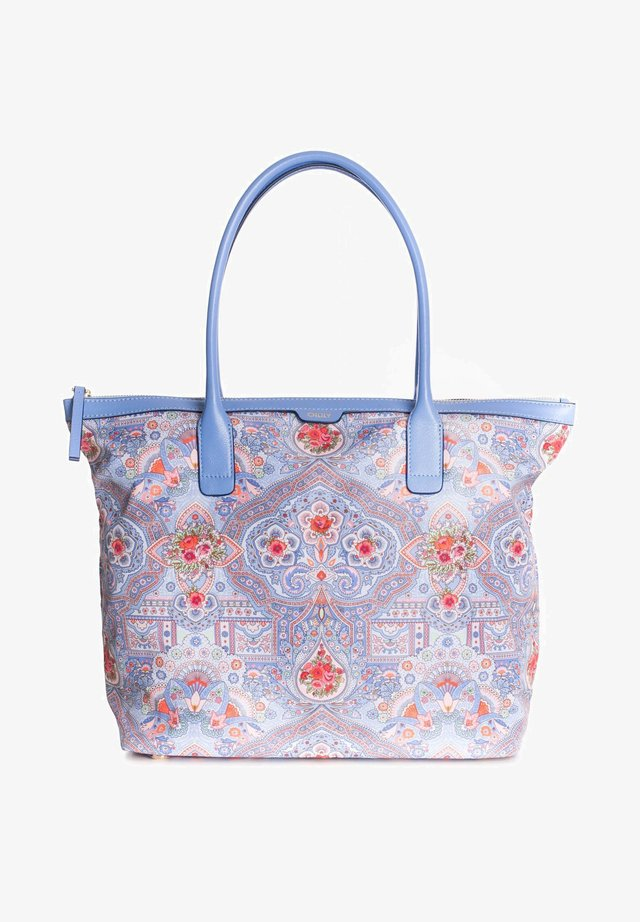 OVATION - LEATHER TRIMS - Tote bag - sky blue
