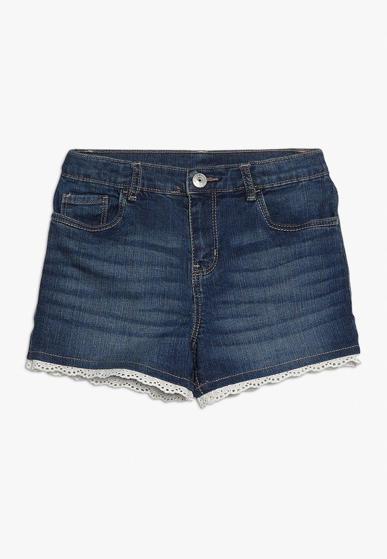 OshKosh - EYELET TRIM - Jeans Shorts - blue denim