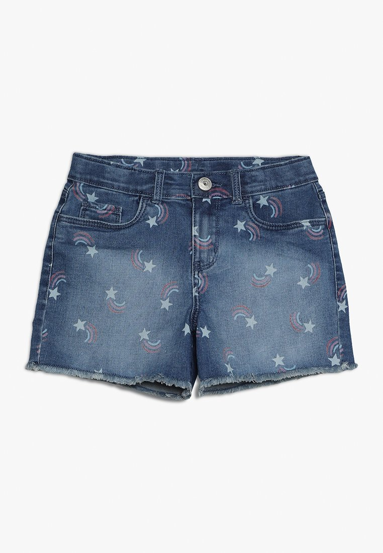 OshKosh - FRAYED EDGE - Jeans Shorts - blue
