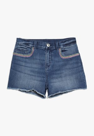 ROLLED  - Denim shorts - blue denim