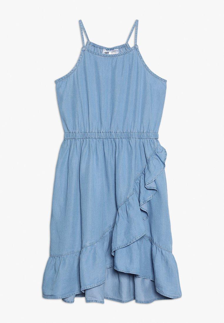 OshKosh - ASYMMETRICAL RUFFLE DRESS - Denim dress - blue denim